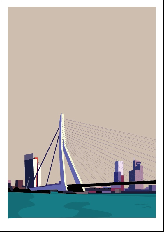 Rotterdam Screen printed illustration. www.29north.co.uk