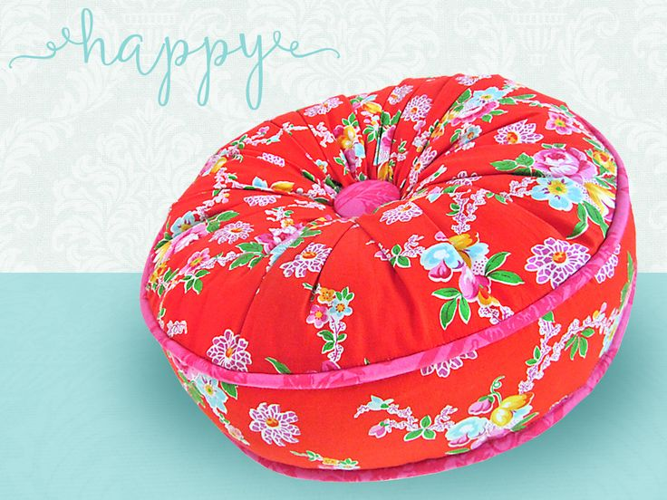 Round Piped Pillow with Gathered Top | Sew4Home