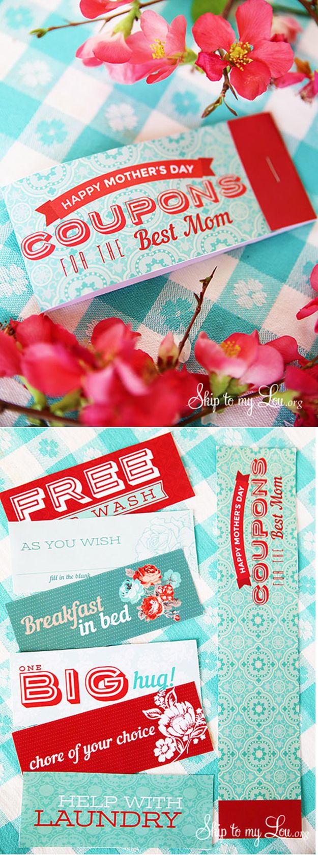 Easy Printable Mother's Day Coupon (free printable) | Simple Mother's Day Gift from Kids by DIY Ready at http://diyready.com/diy-gifts-mothers-day-ideas/