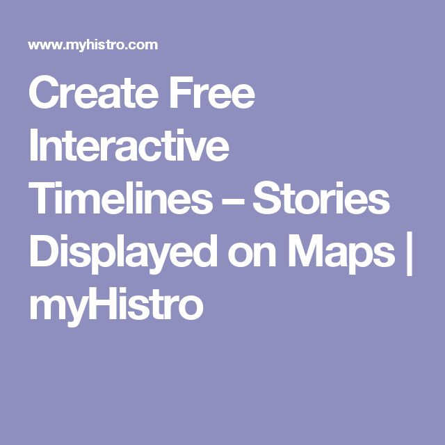 ACTIVITY IDEA - Create Free Interactive Timelines - Using this application students can create their own interactive timeline to display information they have learned.
