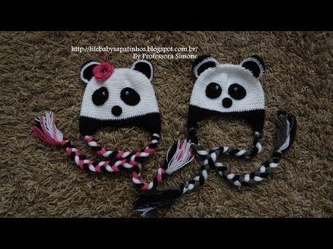 Passo a passo Touca Ursinho Panda Parte-2 - YouTube