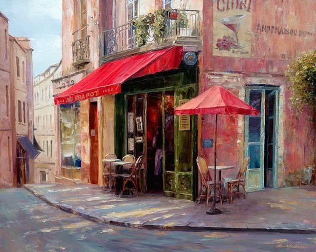 Haixia Liu 1962 | Chinese Realist/Impressionist painter | Urban landscape