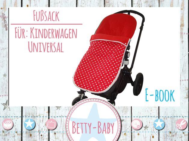 Nähanleitungen Baby - ★ebook★ Fußsack für Kinderwagen - ein Designerstück von Betty-Baby bei DaWanda