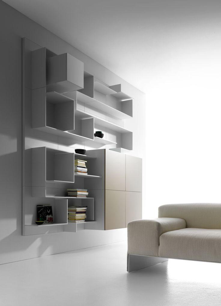 Sectional MDF storage wall VITA by MDF Italia   #design Massimo Mariani, Aedas R&S