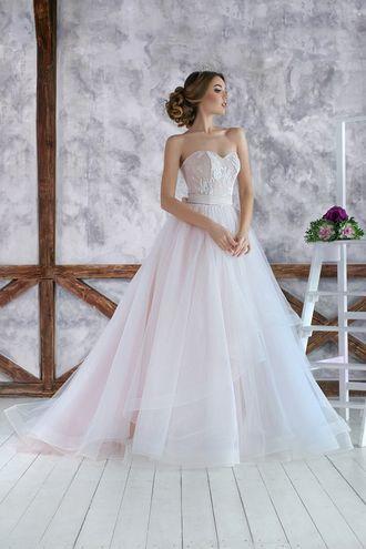 """Свадебное платье """"Париж"""", свадебное платье пудрового цвета, пышная юбка, каскадная юбка, wedding dress, wedding"""