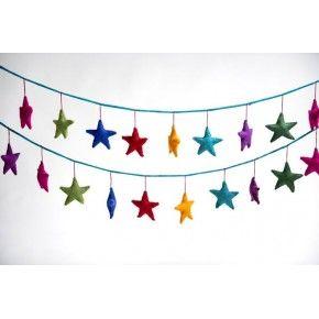 Felt Star Garland - Rainbow