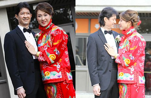 Linda Chung and husband Jeremy Leung held their wedding banquet in Vancouver, Canada on February 27, 2016.