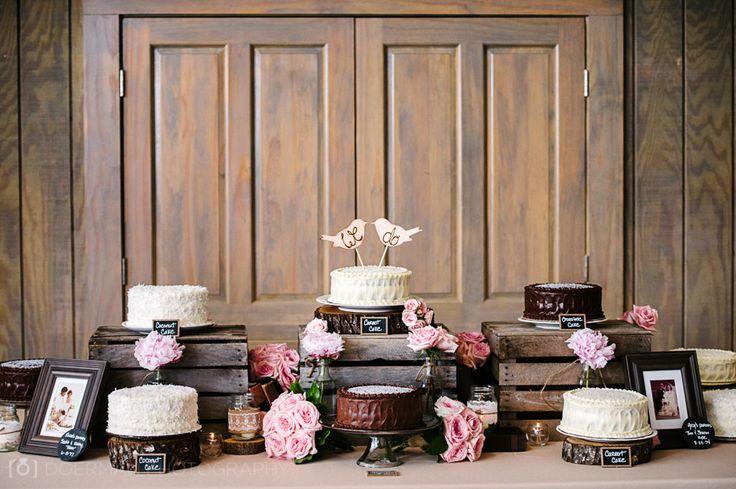 6 Wedding Cake Ideas to Save Money on Borrowed & Blue.  Photo Credit: Doerman Photography
