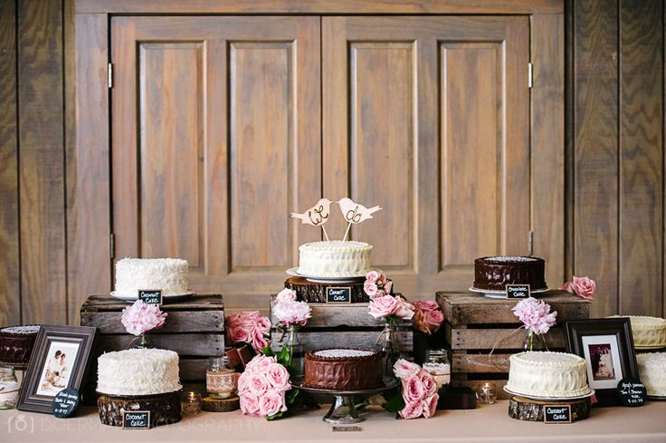 Multiple wedding cakes instead of just one.