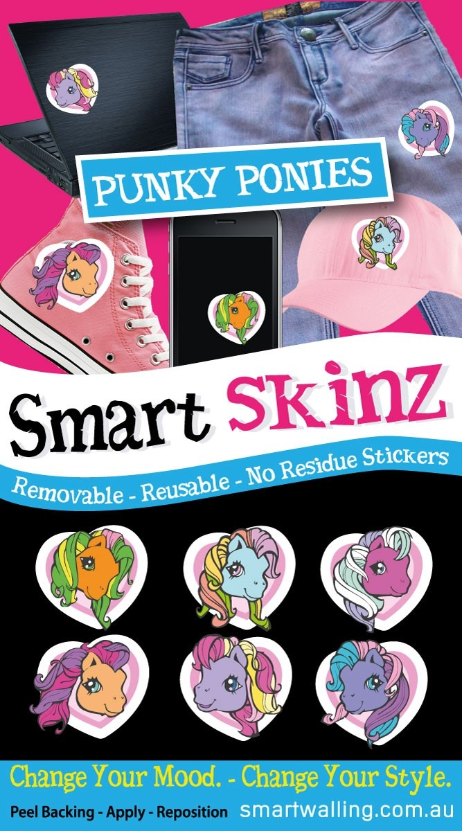 My Little Pony Smart Skins - Totally Movable, $5.95 Phone stickers, laptop stickers, clothing stickers, (http://www.wholesaleprinters.com.au/my-little-pony-smart-skins-totally-movable)