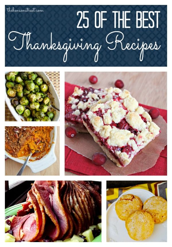 25 of the BEST Thanksgiving Recipes...my mouth is watering looking at all the tasty looking dishes! Excited to get cooking!!