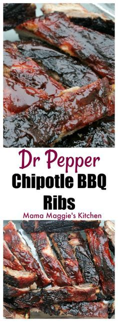 Dr. Pepper Chipotle BBQ Ribs - grill, grilling, BBQ - via @MamaMaggiesKitchen #sponsored #GrillGatingHero #GrillGating