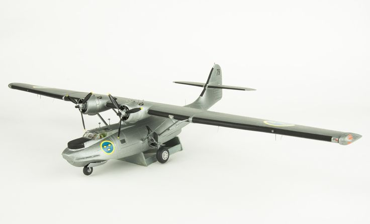 Model aeroplane TP 47 Catalina. Skala 1:72   Flygvapenmuseum   CC BY