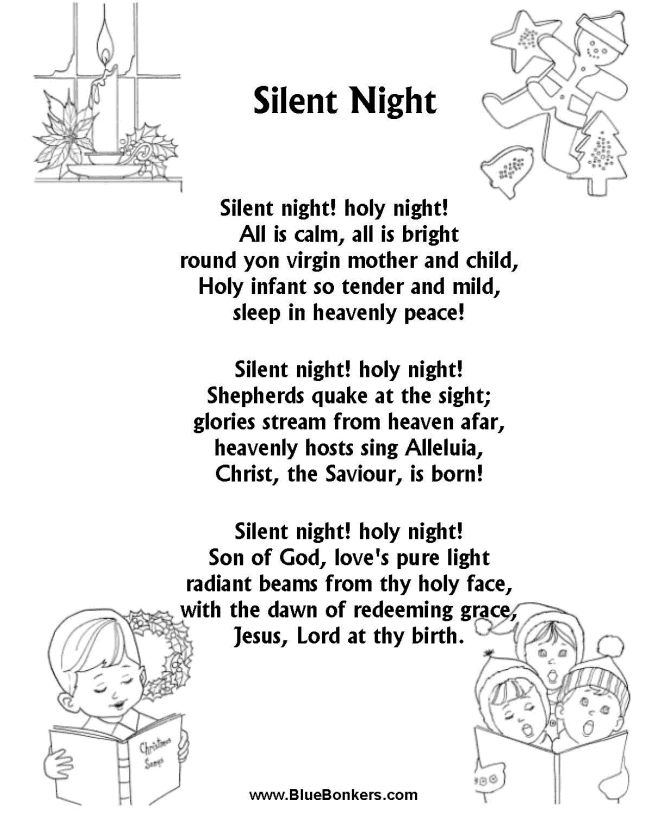 Sheet Music And Lyrics To Joy To The World: Best 25+ Silent Night Ideas Only On Pinterest