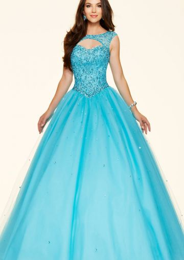 Cheap and Australia 2016 Pool Ball Gown Scoop Neckline With Sequins Organza Floor Length Evening Dress/ Prom Dresses 98033 from Dresses4Australia.com.au