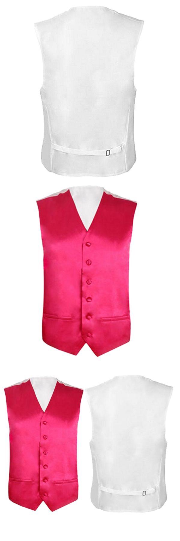 Mens Wedding Waistcoat Groom (Rose red M/UK 38)