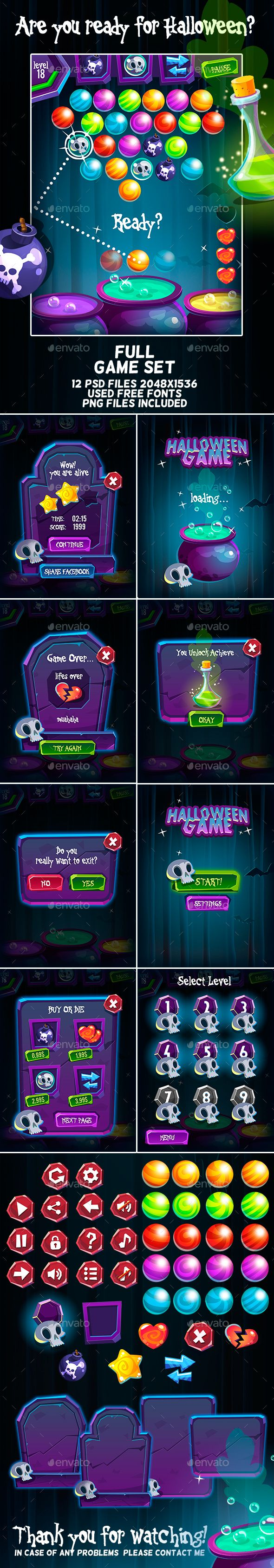 Halloween Bubble Shooter Full Game Set on Behance