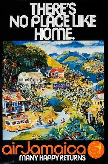 Old Air Jamaica poster. Brings back memories!