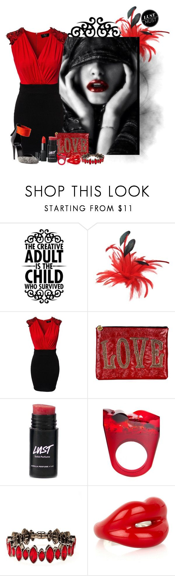 """""""Seven Deadly Sins: Lust"""" by stylesdice ❤ liked on Polyvore featuring AX Paris, Jonathan Adler, Pasionae, NARS Cosmetics, Pierre Hardy, Henri Bendel and Solange Azagury-Partridge"""