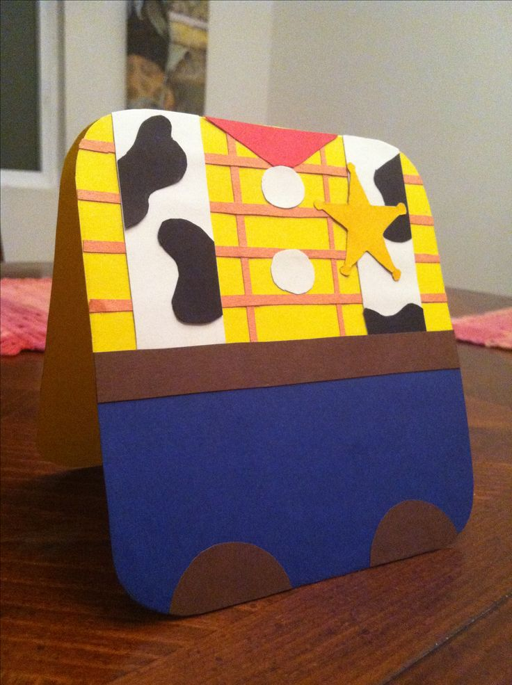 Toys Story Woody Card. Great for birthday invites, birthday cards, greeting cards etc. handmade it myself.
