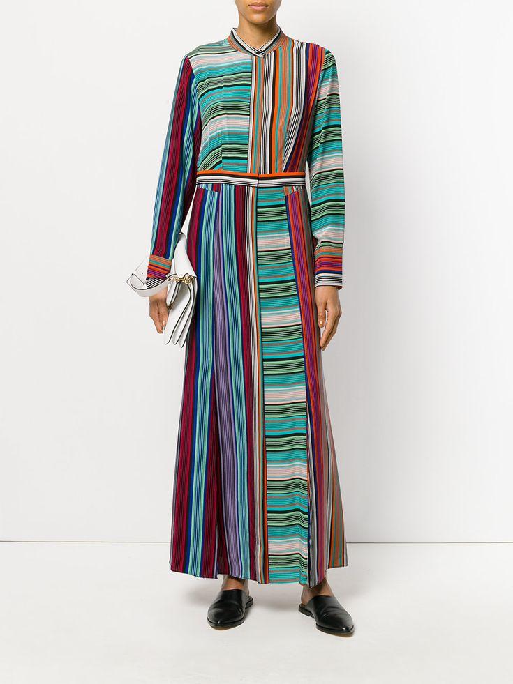 Dvf Diane Von Furstenberg striped long dress