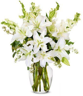 Stunning White Lilly Arrangement - Next Day Flower Delivery, Send Flowers Online, International Flower Delivery, Online Flowers, Flowers Online Delivery, Birthday Flowers Delivery - http://flowersnhoney.com/stunning-white-lilly-arrangement-next-day-flower-delivery-send-flowers-online-international-flower-delivery-online-flowers-flowers-online-delivery-birthday-flowers-delivery/