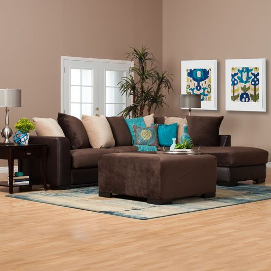 Best 25 brown sectional ideas on pinterest brown couch pillows grey basement furniture and - Decoracion con chocolate ...