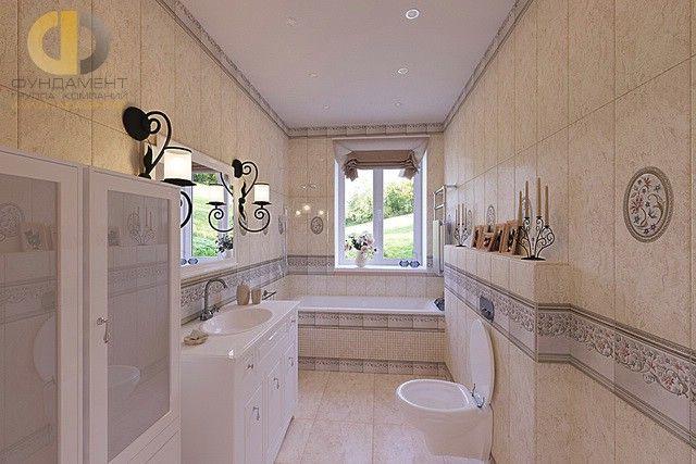 Фото интерьера светлой ванной