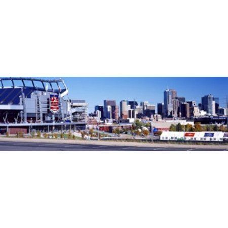 Stadium in a city Sports Authority Field at Mile High Denver Denver County Colorado USA Canvas Art - Panoramic Images (36 x 12)