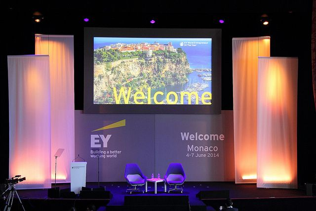 The stage is set for many great keynote sessions at this years #EY World Entrepreneur  Of The Year. EOY is a key middle market initiative for EY globally.