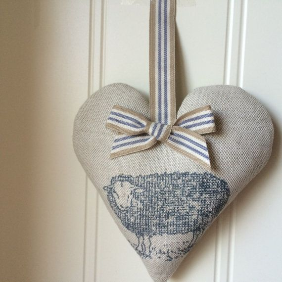 Lavender Heart in Emily Bond  JACOBS SHEEP  by VillageBunting