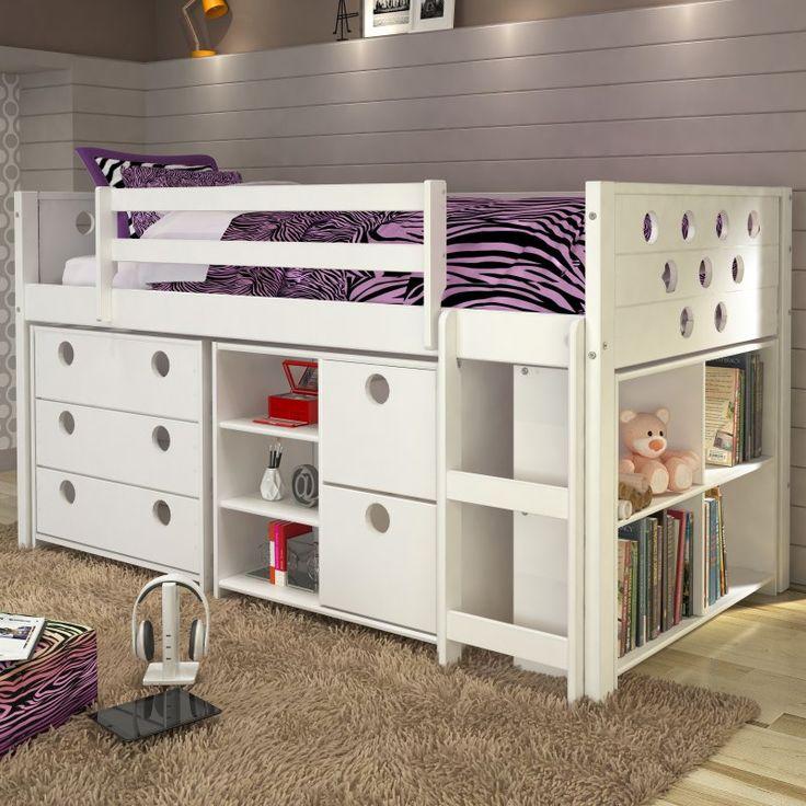 Donco Circles Low Study Loft Bed