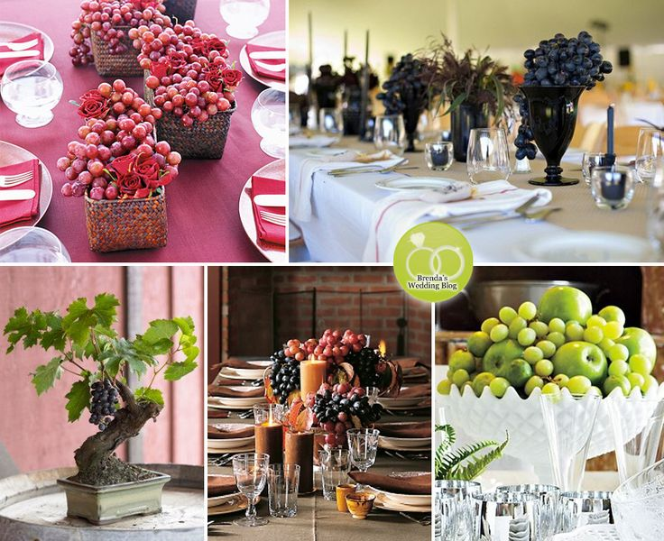 Winery Wedding Centerpieces + Bouquets : vineyard themed ideas — Brenda's Wedding Blog - stylish wedding inspiration boards - affordable wed...