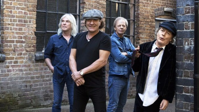 Cliff Williams, Brian Johnson, Stevie Young and Angus Young of AC/DC.