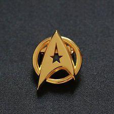 Star Trek The Original Series Golden Insignia Badge Pin