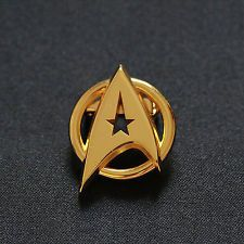 Star Trek The Original Series Golden Insignia Badge Pin