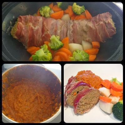 Meatloaf and red sauce from the Everyday Cookbook #Thermomix #Varoma