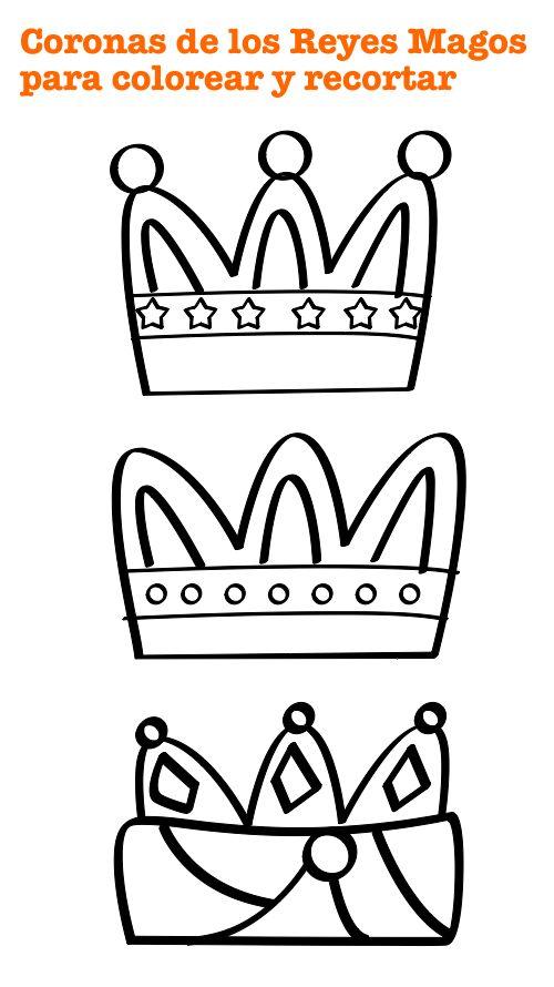 Corona Reyes Magos para colorear                                                                                                                                                                                 Más