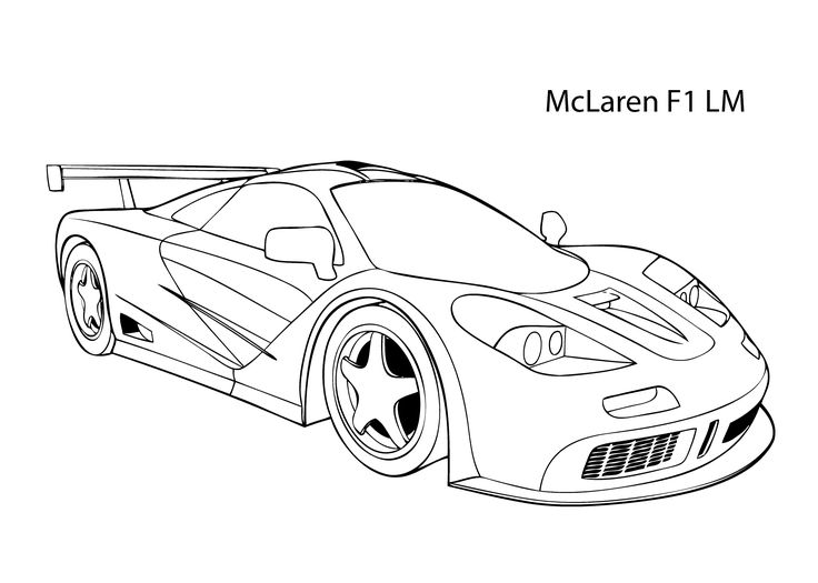 Super Car Mclaren F1 Lm Coloring Page Cool Car Printable