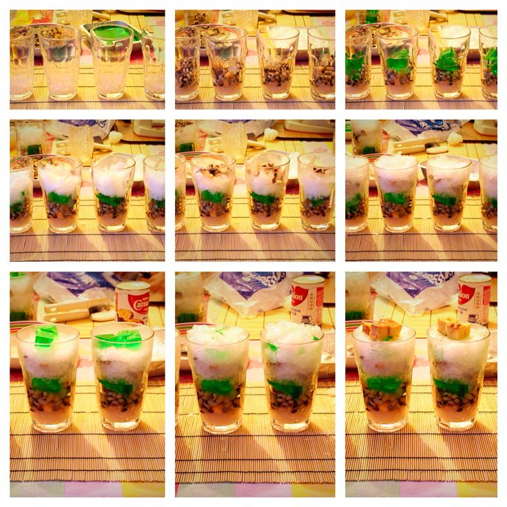 Halo Halo - Traditional Filipino dessert made with a variety of sweets, crushed ice and evaporated milk  Happy Eating! ------ twocooksinapod.wordpress.com ------