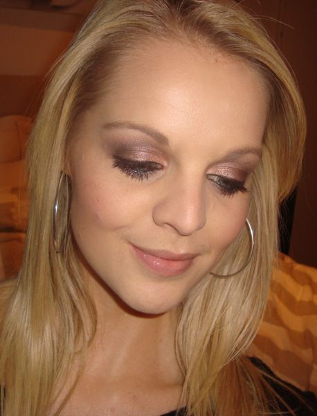 Brown Smokey Eye Tutorial--MAC all that glitters and satin taupe