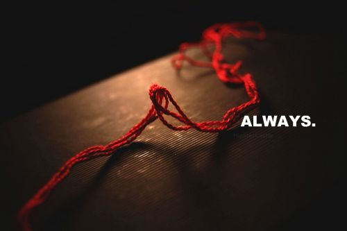 According to ancient Chinese legend, an invisible red thread connects those who are destined to meet, regardless of time, space, or circumstance. The thread may stretch or tangle, but it will never break. According to this myth, the gods tie an invisible red string around the ankles of men and women who are destined to be soul mates.
