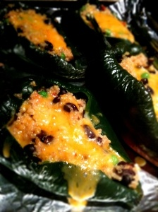 Quinoa stuffed anaheim peppers