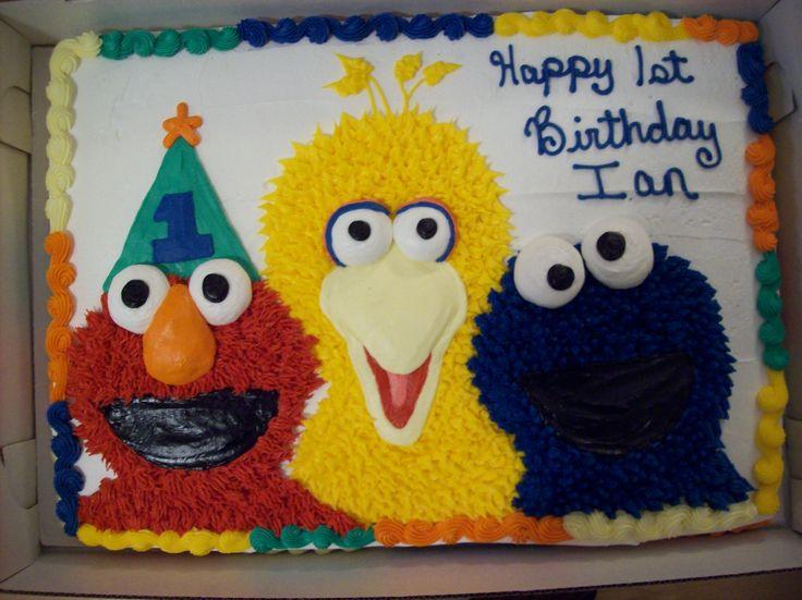 Sesame Street 1st Birthday Sheet Cake
