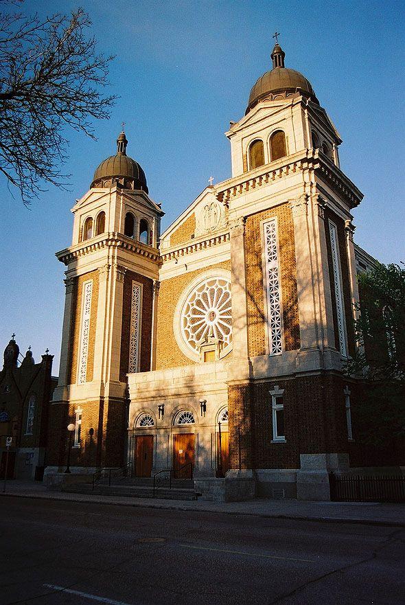 Ss. Vladimir & Olga Ukrainian Cathedral, Winnipeg, Manitoba_ Home to 18 major stained glass windows by Leo Mol, depicting the history of the Ukrainian Catholic Church