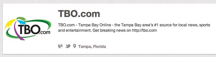 http://pinterest.com/tbocom/  @TBOCom  Tampa, Florida  TBO.com, Tampa Tribune  View a full alphabetical list here: http://www.NewspapersOnPinterest.com  #Newspapers  #newspapersonpinterest