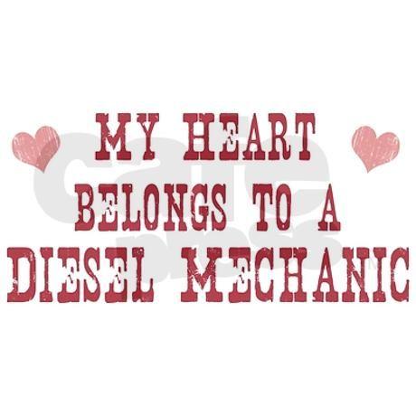 Belongs to Diesel Mechanic Bumper Bumper Sticker on CafePress.com