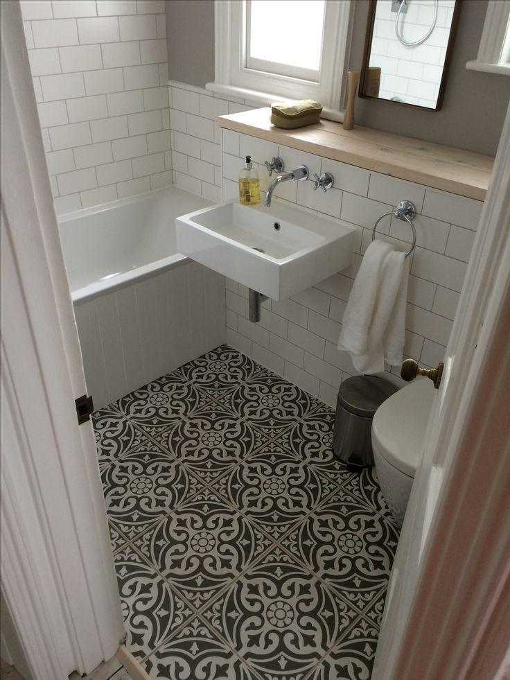 Small Bathroom Floor Tile Patterns Feels Free To Follow Us In 2020 Small Bathroom Tiles Small Farmhouse Bathroom Floor Tile Design