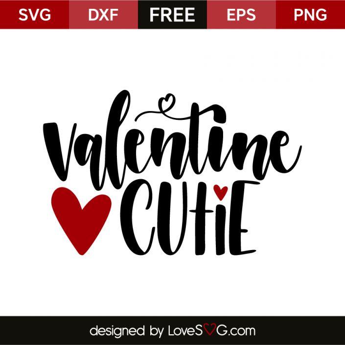 *** FREE SVG CUT FILE for Cricut, Silhouette and more *** Valentine cutie