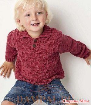 Джемпер для мальчика «Hammond» спицами - Вязание - Страна Мам